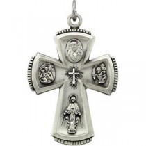 Four Way Cross in Sterling Silver