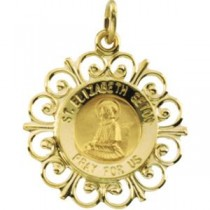 Mother Seton Medal in 14k Yellow Gold