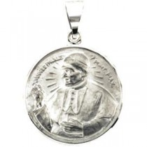 Pope John Paul II Medal in 14k Yellow Gold