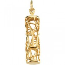 Mezuzah Pendant in 14k Yellow Gold