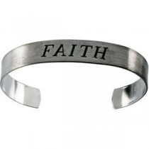 Faith Cuff Bracelet in Sterling Silver