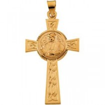 Pope John Paul II Cross in 14k Yellow Gold