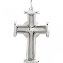 0.04 Ct. Diamond Cross in Sterling Silver
