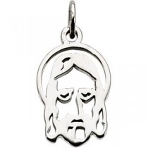Face Of Jesus Silhouette in 14k Yellow Gold