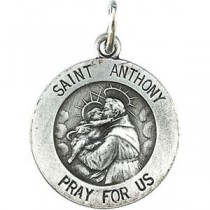 St Anthony Medal 18 Inch Chain in Sterling Silver