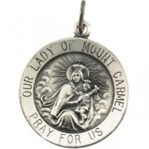 Lady of Mount Carmel Pendant in Sterling Silver