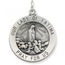 Lady Of Fatima Medal in Sterling Silver