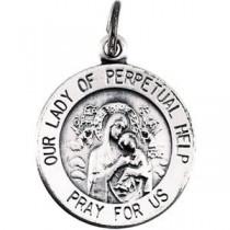 Perpetual Help Medal in Sterling Silver