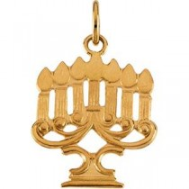 Menorah Pendant in 14k Yellow Gold