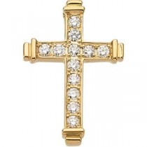 0.48 Ct. Diamond Cross in 14k Yellow Gold