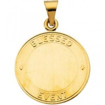 Blessed Event Pendant in 14k Yellow Gold