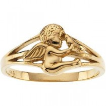 Holy Spirit Angel Ring in Sterling Silver