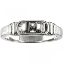 Jesus Mary Joseph Ring in 14k White Gold