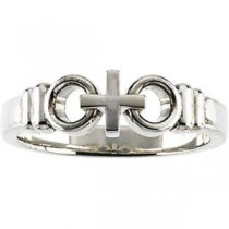 Holy Matrimony Ring in 14k White Gold