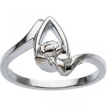 Memorial Tear Ring in Sterling Silver