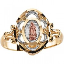 Lady Of Guadalupe Ring in 14k Yellow Gold