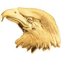Eagle Lapel Pin in 14k White Gold