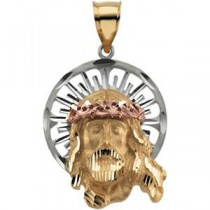 Jesus Pendant in 14k Yellow Gold