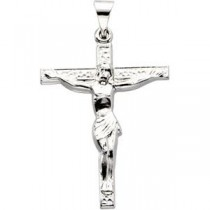 0.03 Ct. Diamond Crucifix in 14k Yellow Gold