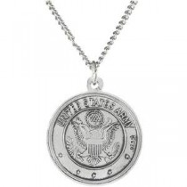 US Army St Christopher Medal in Sterling Silver