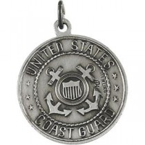 US Coast Guard St Christopher Medal in Sterling Silver