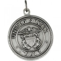 US Navy St Christopher Medal in Sterling Silver