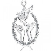 Wings Of Remembrance Charm in Sterling Silver