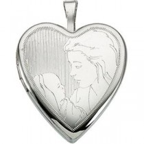 Child Mother Locket in Sterling Silver