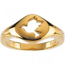 Cross Band in 14k Yellow Gold