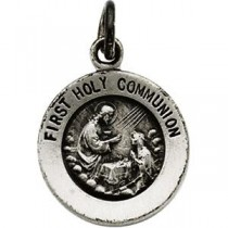 First Holy Communion Pendant in Sterling Silver