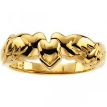 Heart Holy Spirit Ring in 10k Yellow Gold