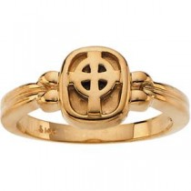Celtic Cross Ring in 10k Yellow Gold