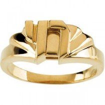Chai Ring in 10k Yellow Gold