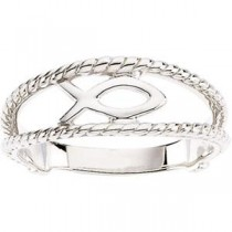 Fish Ring in 14k White Gold