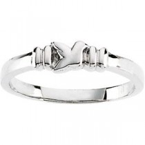 Holy Spirit Ring in 14k White Gold