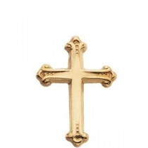 Cross Lapel Pin in 14k Yellow Gold