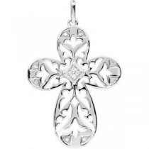 Diamond Cross in Sterling Silver