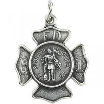 St. Florian Medal in Sterling Silver