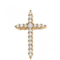 Diamond Cross in 14k Yellow Gold