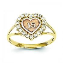 Sweet 15 Heart Ring