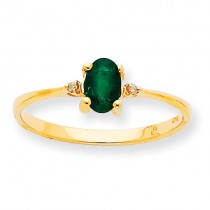 Diamond Emerald Birthstone Ring