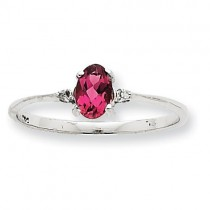 Pink Tourmaline Birthstone Ring