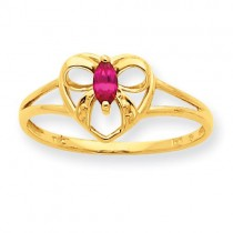Ruby Birthstone Ring