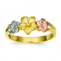 Tri-color Plumeria Ring