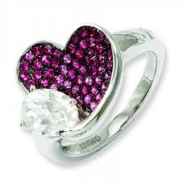 Zirconia Brilliant Embers Pink Heart Ring