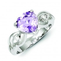 Lavender Gemstone Heart Ring