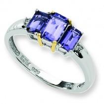 Iolite Diamond Ring