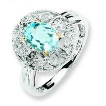 Sky Blue Diamond Ring