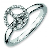 Peace Symbol Diamond Ring