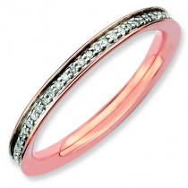 Diamonds Pink Plated Ring